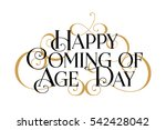 happy coming age day... | Shutterstock .eps vector #542428042