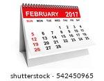 2017 Year Calendar. February...
