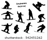 isolated black silhouettes... | Shutterstock .eps vector #542451262