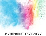 explosion of colored powder on... | Shutterstock . vector #542464582