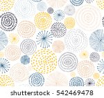 Stock vector vector seamless pattern with ink circle textures abstract seamless background with colorful 542469478