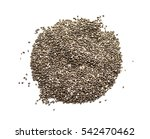 organic dry chia seeds isolated ...   Shutterstock . vector #542470462