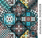 abstract patchwork pattern.... | Shutterstock . vector #542481028