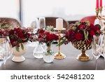 empty glasses set in restaurant.... | Shutterstock . vector #542481202