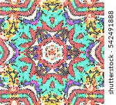 mosaic colorful pattern for...   Shutterstock . vector #542491888