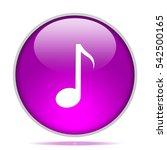 music icon. internet button .3d ...   Shutterstock . vector #542500165