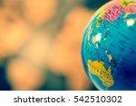 global concept.  blue globe... | Shutterstock . vector #542510302