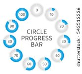 icons pie graph circle... | Shutterstock .eps vector #542513236
