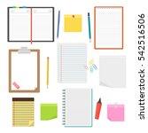 set of vector notebooks ... | Shutterstock .eps vector #542516506