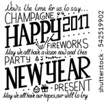 illustration of happy new year... | Shutterstock .eps vector #542519902