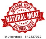natural meat. stamp. sticker.... | Shutterstock .eps vector #542527012