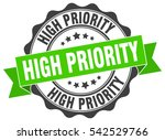 high priority. stamp. sticker.... | Shutterstock .eps vector #542529766