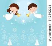 christmas angels | Shutterstock .eps vector #542542216