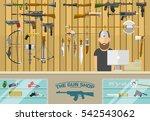 gun shop vector illustration.