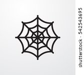 spider web icon illustration... | Shutterstock .eps vector #542543695