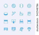 sport icons | Shutterstock .eps vector #542548786