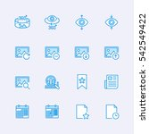 multimedia icons | Shutterstock .eps vector #542549422