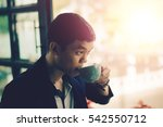 young businessman looking to... | Shutterstock . vector #542550712