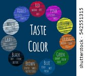 taste color. basic color theory.... | Shutterstock .eps vector #542551315