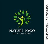 nature template logo design.... | Shutterstock .eps vector #542561356