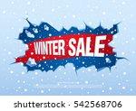 winter sale banner  vector... | Shutterstock .eps vector #542568706