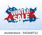 winter sale banner  vector... | Shutterstock .eps vector #542568712