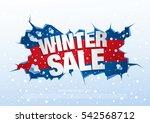 Winter Sale Banner  Vector...