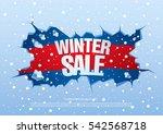 winter sale banner  vector...   Shutterstock .eps vector #542568718