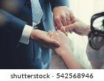 together wedding hand | Shutterstock . vector #542568946