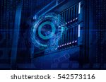 concept of disk storage data... | Shutterstock . vector #542573116
