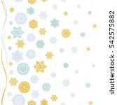 snowflakes  snowfall in blue... | Shutterstock . vector #542575882
