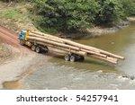 logging truck in the primary... | Shutterstock . vector #54257941