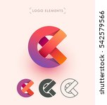 vector abstract logo design....
