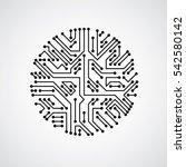 technology communication... | Shutterstock . vector #542580142
