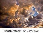 Cloudscape  Colored Clouds At...