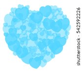 teal heart shape made with a... | Shutterstock .eps vector #542592226
