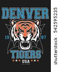 college  vector  graphic  tiger ... | Shutterstock .eps vector #542595235