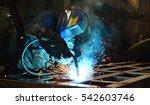 welders working at the factory... | Shutterstock . vector #542603746