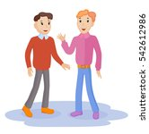 two friendly male mature... | Shutterstock .eps vector #542612986