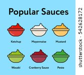 popular sauces minimal color... | Shutterstock .eps vector #542628172