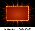 signboard retro style with... | Shutterstock .eps vector #542638672