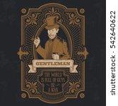 vintage gentleman emblem ... | Shutterstock .eps vector #542640622
