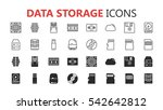 simple modern set of data... | Shutterstock .eps vector #542642812