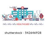 horizontal banner in modern... | Shutterstock .eps vector #542646928