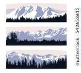 set of three landscape banners... | Shutterstock .eps vector #542653612