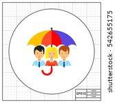 life insurance concept icon | Shutterstock .eps vector #542655175