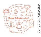 cute vector illustration  gifts ...   Shutterstock .eps vector #542656708