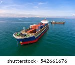 container container ship in... | Shutterstock . vector #542661676