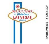 welcome to fabulous las vegas... | Shutterstock .eps vector #54266269