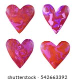 plasticine handmade heart set... | Shutterstock . vector #542663392